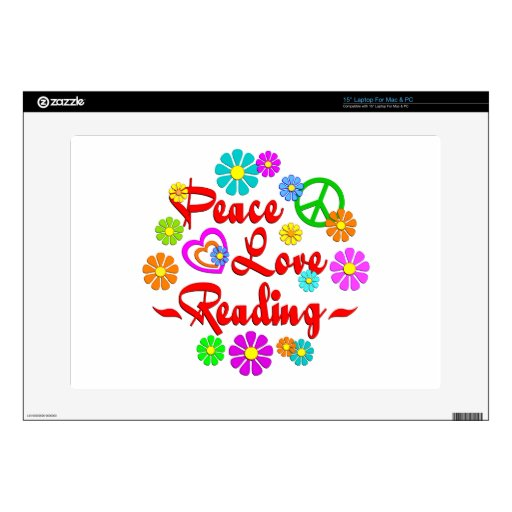 Peace Love Reading Decals For Laptops