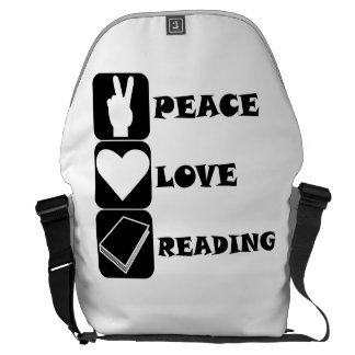 Peace Love Reading Courier Bags