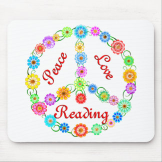 Peace Love Reading Mouse Pad
