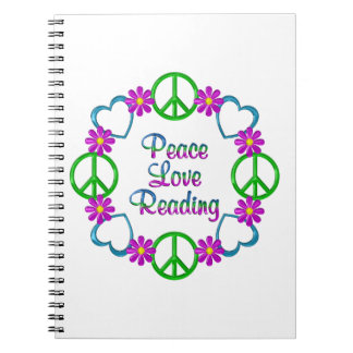 Peace Love Reading Notebook