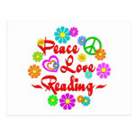 Peace Love Reading Post Card