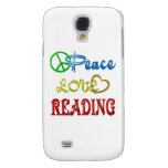 PEACE LOVE READING SAMSUNG GALAXY S4 CASES