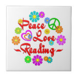 Peace Love Reading Tile