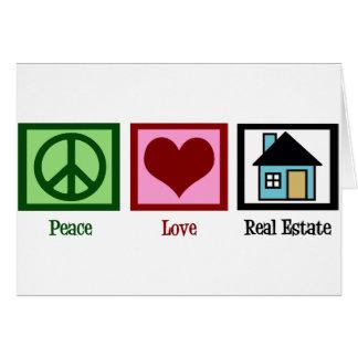 Peace Love Real Estate Card