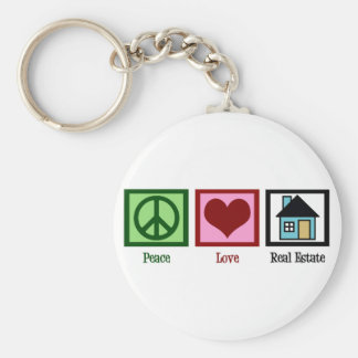 Peace Love Real Estate Keychain