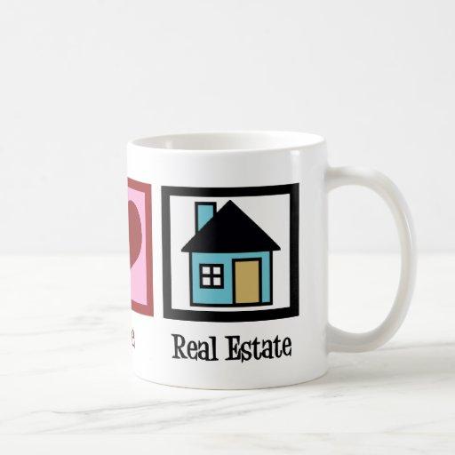 Peace Love Real Estate Coffee Mugs
