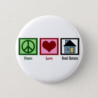 Peace Love Real Estate Pinback Button