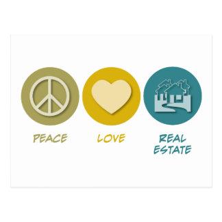 Peace Love Real Estate Post Card