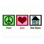 Peace Love Real Estate Postcard