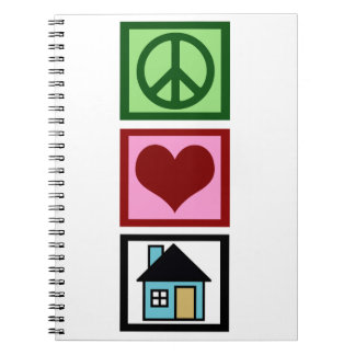 Peace Love Real Estate Spiral Notebook