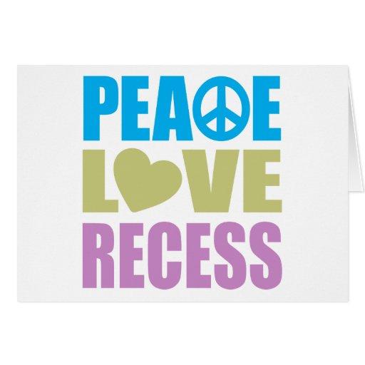 Peace Love Recess Cards
