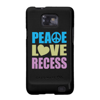 Peace Love Recess Galaxy SII Covers