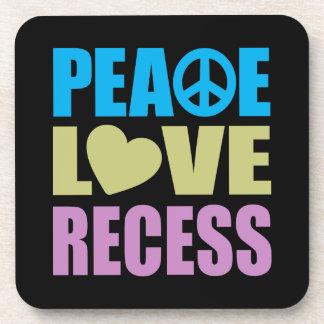 Peace Love Recess Coaster