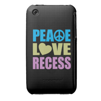 Peace Love Recess iPhone 3 Cases