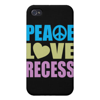 Peace Love Recess iPhone 4 Cases