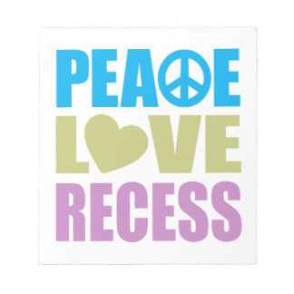 Peace Love Recess Scratch Pads