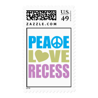 Peace Love Recess Stamp