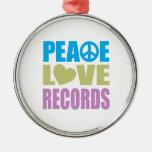 Peace Love Records Ornament
