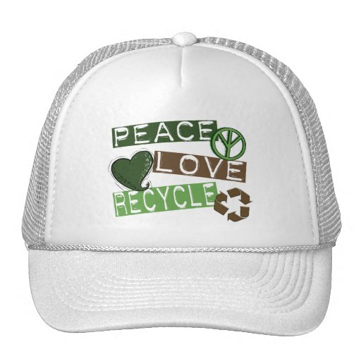 PEACE LOVE RECYCLE 2 Tees & Apparel Trucker Hat