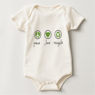 Peace Love Recycle Baby Bodysuit