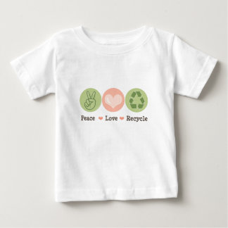 Peace Love Recycle Baby T shirt