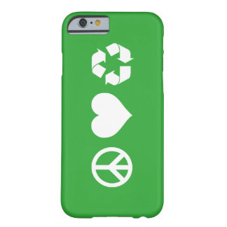 Peace Love Recycle Barely There iPhone 6 Case