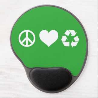 Peace Love Recycle Gel Mouse Pad
