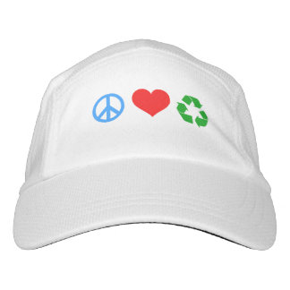 Peace Love Recycle Headsweats Hat
