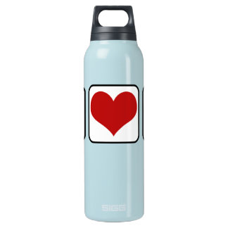Peace Love Recycle Insulated Water Bottle