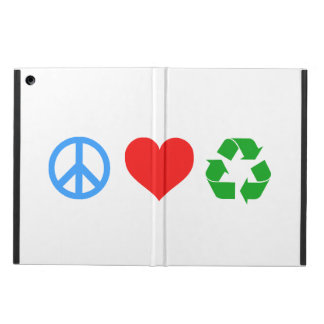 Peace Love Recycle iPad Air Case