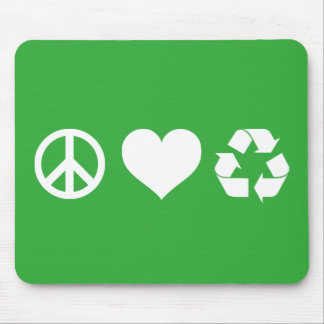 Peace Love Recycle Mouse Pad
