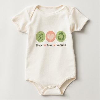 Peace Love Recycle Organic Infant Bodysuit