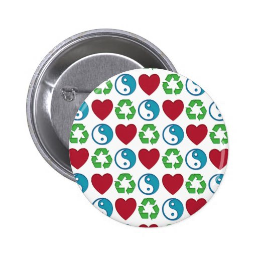 Peace Love Recycle Pin
