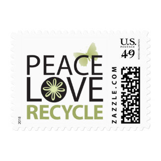 Peace Love Recycle Postage