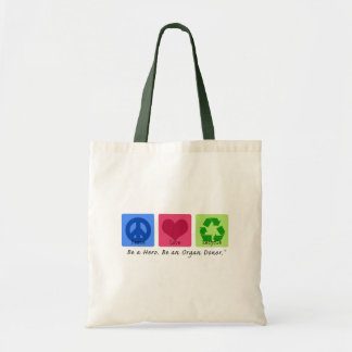 Peace Love Recycle Tote Bag