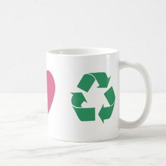 Peace, Love, Recycling Coffee Mug