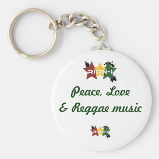 """peace,love&reggae music"" keychain"