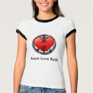 Peace Love Reiki Ringer T-shirt-option 2 T-Shirt