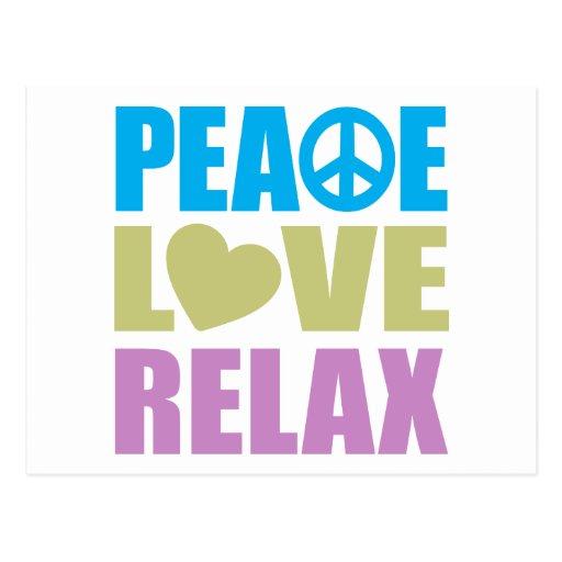 Peace Love Relax Postcard