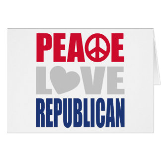 Peace Love Republican Greeting Card