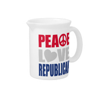 Peace Love Republican Drink Pitcher