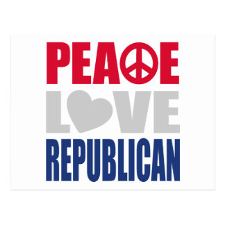 Peace Love Republican Postcard