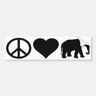 Peace Love Republicans Car Bumper Sticker