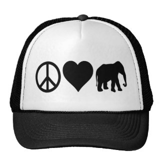 Peace Love Republicans Trucker Hat