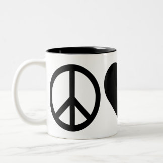 Peace Love Republicans Two-Tone Coffee Mug