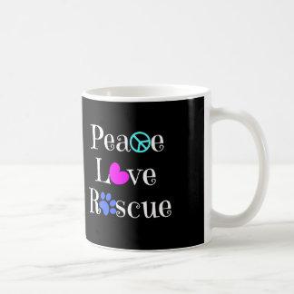 Peace Love Rescue, Animal Rescue Mug