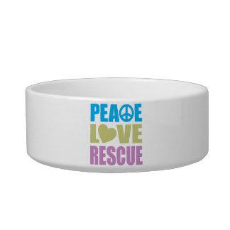 Peace Love Rescue Bowl