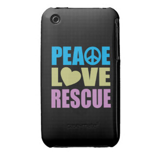 Peace Love Rescue iPhone 3 Cover