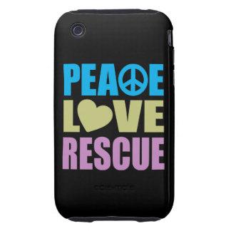 Peace Love Rescue iPhone 3 Tough Case