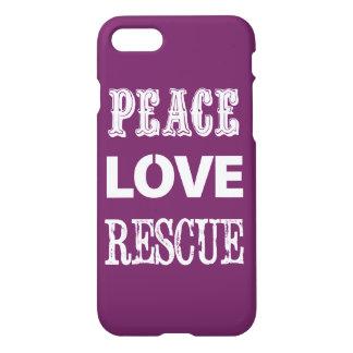 Peace Love Rescue Iphone case